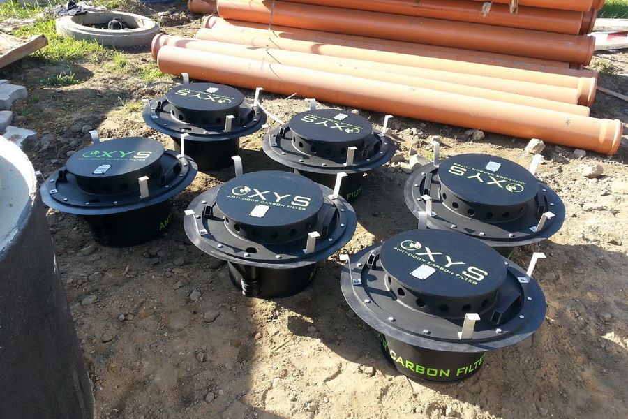 OXYS szénszűrő csatornaszag ellen - beépités12
