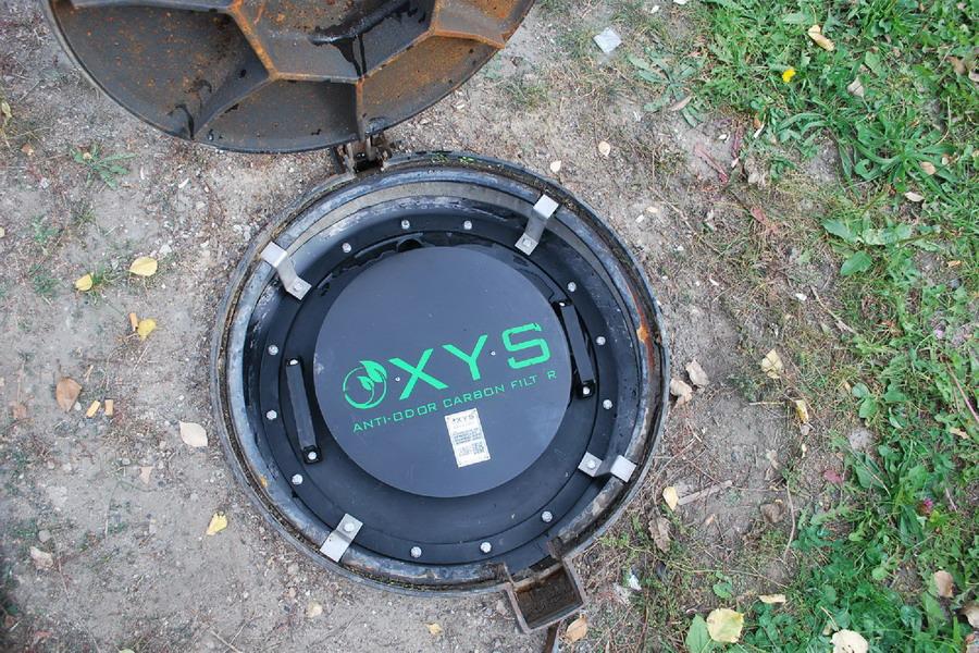 OXYS szénszűrő csatornaszag ellen - beépités8